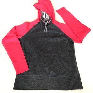 Nike Therma-Fit Gray/Pink Big Swoosh Hoodie-M